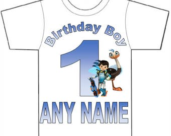 Miles From tomorrowland t-shirt,Boys birthday t-shirt,Custom shirt,personalised Tshirt,any age,any name.