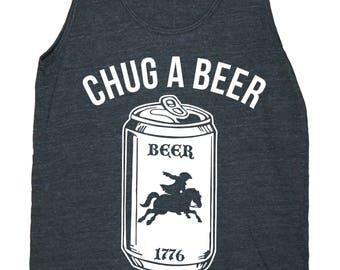 Chug A Beer for Paul Revere Men's American Apparel Tank Top