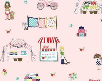 Vintage market fabric
