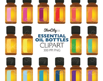 Essential oil clipart, EO Clip Art, Essential oil Graphics, Aromatherapy clipart, Artwork for stickers, Commercial Use, instant download