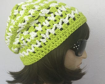 Women Crochet Summer Hat Women Summer Slouchy Beanie  Women Spring Hat