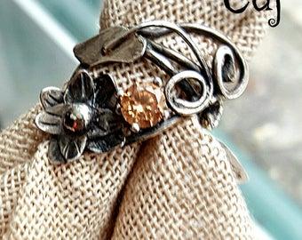 Statement Vintage Inspired Flower Ring