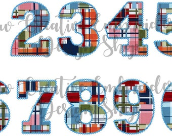 Jesse Numbers - Vintage Applique Numbers - No Other Lettering Included