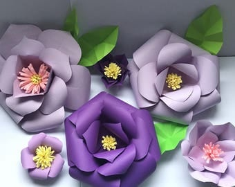 6 Piece Paper Flower Backdrop