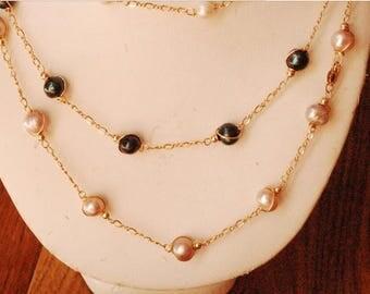 Handmade freshwater pearl necklcae
