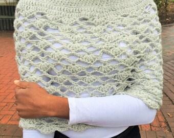 Crochet poncho or infinity scarf