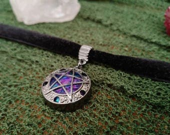 Gothic Choker - Colorful/Radiant Pentacle