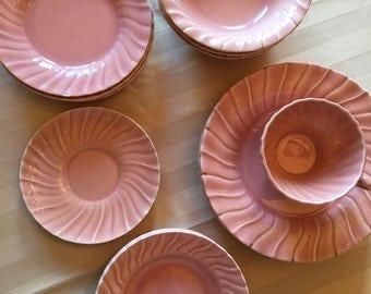 Franciscan pink Coronado dishes