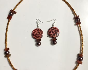 Tribal necklace/earring set