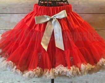Ohio State Skirt, buckeye pettiskirt, girls pettiskirt, scarlet and grey, buckeyes baby