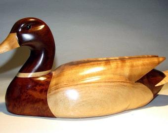Mallard original wood bird carving