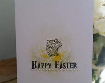 hand made happy easter card