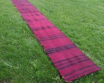 """Large Runner rug,2'1""""×17'3""""feet,Vintage Turkish Oushak Runner kilim Rugs,Red Color Runner,63x520cm.Home living,Vintage Runner kilim rugs,"""
