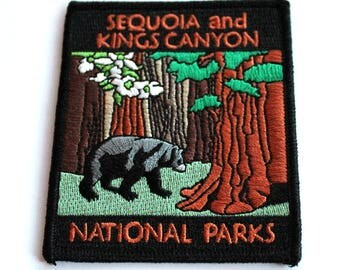 Official Sequoia and Kings Canyon National Park Souvenir Patch California Parks Scrapbooking FREE SHIPPING