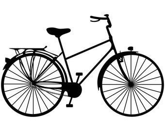 Bicycle Ride a bike Graphics SVG Dxf EPS Png Cdr Ai Pdf Vector Art Clipart instant download Digital Cut Print File Cricut Silhouette Decal
