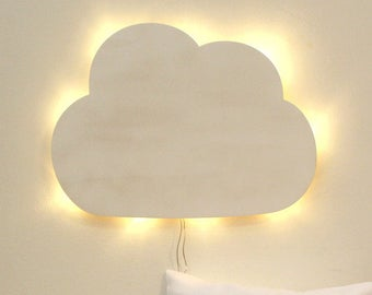 Wall lamp kids slumber lamp in white cloud (M2032, M2033 & M2034)