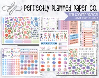 Flower Power Collection  // A La Carte // Erin Condren Vertical and Happy Planner Classic [022]