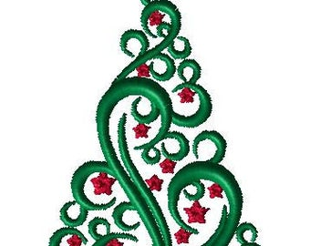 Elegant Christmas Tree Embroidery Design