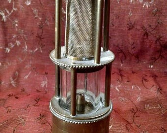 Antique Brass Miner's Lamp