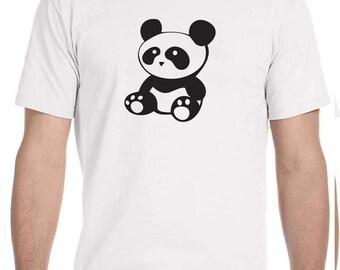 Panda T-shirt 100% Cotton Sizes S-XL, Multiple Colours