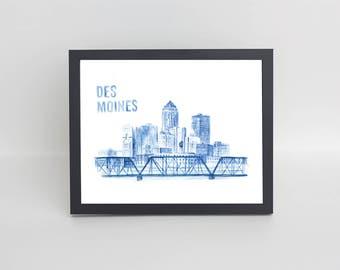 Des Moines Watercolor
