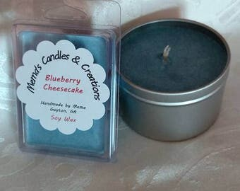 8 oz. SOY candle, Blueberry Cheesecake fragrance