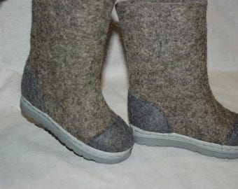 Felted kids boots