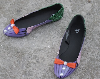 The Little Mermaid Shoes Themed Flats