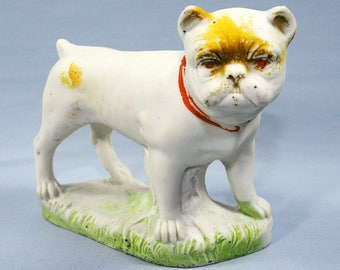 Antique German Bisque Bulldog