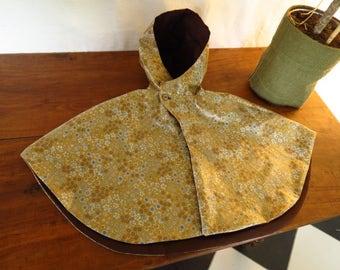 Rain Cape girl cotton coated