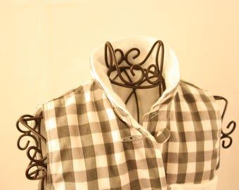 Plaid baby vest, size 62