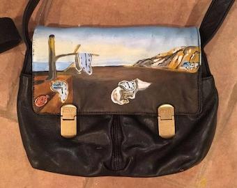 Custom hand painted handbag