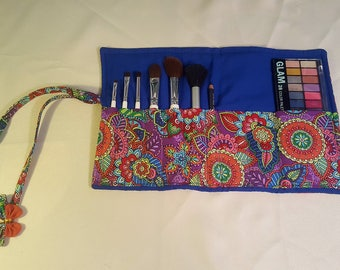 Fabric Makeup organization kit - Brush Roll-up pouch