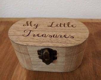 Personalised Wooden Small Trinket Box