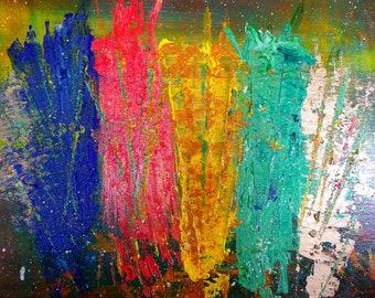 "Medium abstract painting on canvas - ""Dreamland"""