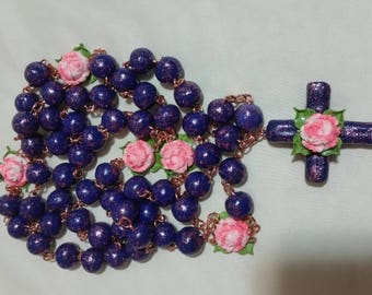 Beautiful decorative catholic rosary