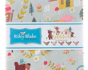 "GOLDILOCKS by Jill Howarth for Riley Blake Designs - 5"" x 5"" Charm Pack Fabric"
