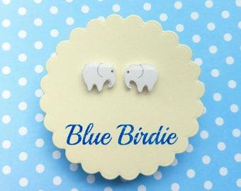 Elephant earrings elephant jewellery elephant jewelry tiny elephant stud earrings small  earrings cute elephant jewellery elephant gift