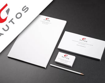 Full Stationery Set with logo design // business stationery // business cards // custom logo design // logo package // branding package
