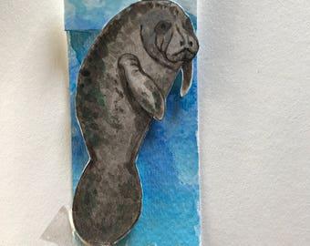 Custom manatee bookmark, design your own bookmark!