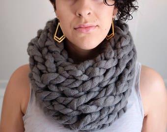 Chunky handmade infinity scarf