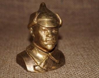Handmade USSR Bronze Bust Models Lenin Lenin statuette Memory Memorabilia Soviet Gift for him Gift for dad Lenin sculpture Made in USSR
