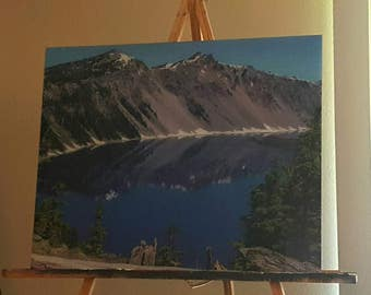 Picture of Crater Lake on glass