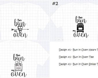 Their Bun my Oven Surrogacy Announcement Pregnancy Shirt T-Shirt
