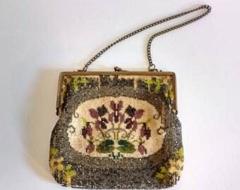 Beaded evening 1920' purse