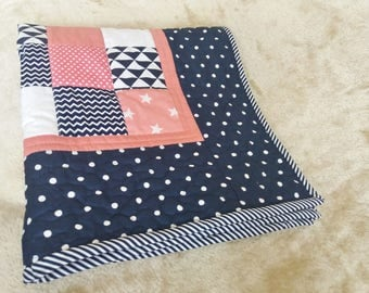 Modern baby/children patchwork blanket, Baby/children blanket