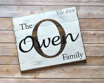 Rustic Personalized Family Sign