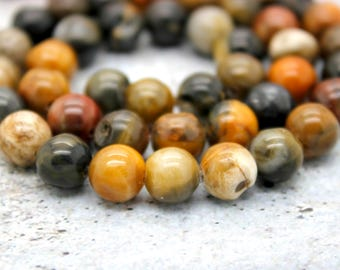 Petrified Wood Round Beads (6mm 8mm 10mm)