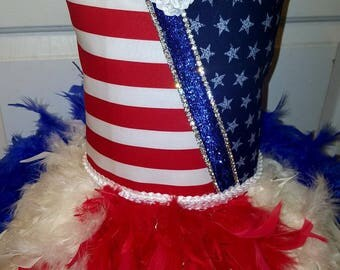 4th of July Dress/Red White and Blue pageant wear/4th of July Tutu/Patriotic pageant dress/patriotic pageant dress/4th of July pageant dress