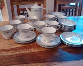 Noritake Blue hill tea set.